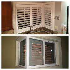 think you can u0027t put plantation shutters over your kitchen sink