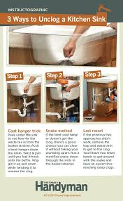 How To Fix A Clogged Kitchen Sink by How To Unclog A Double Sink Sinks Cleaning And Unclog Sink