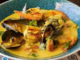 seafood thanksgiving recipes curried coconut seafood soup seafood rassa recipe hemant