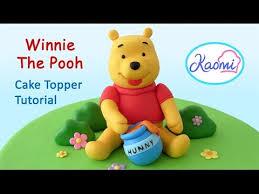 winnie the pooh cake topper winnie the pooh cake topper with gum paste winnie the pooh en