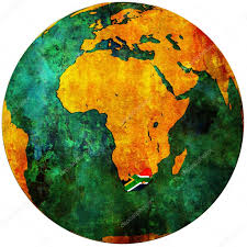 Image Of South African Flag South Africa Flag On Globe Map U2014 Stock Photo Michal812 5284956