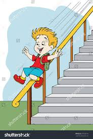 Sliding Down Banister Boy Sliding Down Banister Stock Vector 379238176 Shutterstock