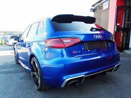 audi rs3 blue used audi rs3 quattro 5dr s tronic sepang blue with extras