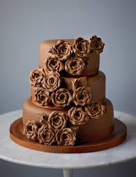 classic rose chocolate wedding cake available to order until 31st ja