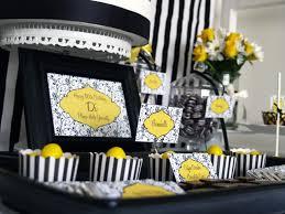 60th birthday decorations black white yellow 60th birthday party yellow party decorations