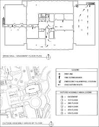 Fire Evacuation Floor Plan Mrak Hall Floor Plans And Maps Mrak Hall Emergency Resources