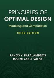principles of optimal design u2013 modeling and computation