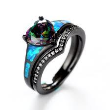 black and blue wedding rings vancaro black ring black engagement ring black wedding ring