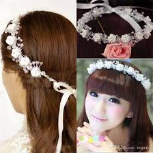 hair beading bridal hair jewellery with 14 handmade flowers bling