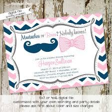 mustache invitations gender reveal invitation gender neutral baby shower mustache