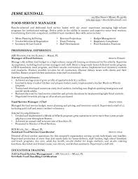 Results Oriented Resume Examples by Server Resume Template Caterer Resume Catering Sales Manager