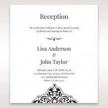 Wedding Reception Card Black Victorian Save The Date By Adorn
