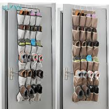aliexpress com buy 24 pockets over the door shoe organizer