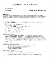 Resumes For Mba Finance Freshers 25 Professional Finance Resume Templates Free U0026 Premium Templates