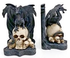 amazon com bellaa decorative bookends dragon skull decor big