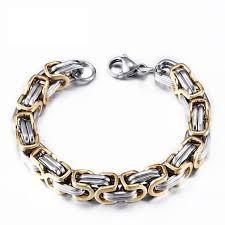 steel link bracelet images Stainless steel byzantine quot birdcage quot chain link bracelets jpg