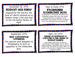 road to the revolution timeline cards by to the square inch kate