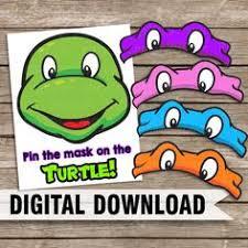 teenage mutant ninja turtle party pin the mask tmnt the letters on
