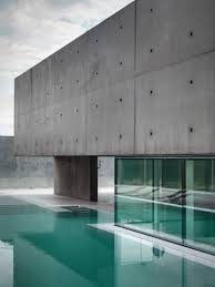 Glass And Concrete House Italian Concrete Home With Glass Accents And An Outdoor Pool