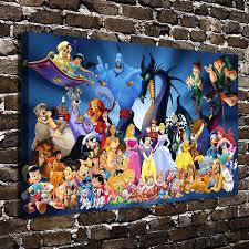 Duck Home Decor A3128 Fairy Tale Princess Donald Duck Cartoon Hd Canvas Print