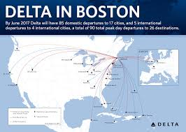 Alaska Airlines Flight Map by New Routes Flights Offered In Boston Service Expansion Delta