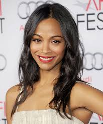 pictures of best hair style for fine stringy hair zoe saldana fake thickness and volume with the best haircuts for