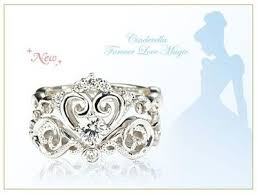 cinderella engagement ring cinderella engagement and wedding ring set from japan disney