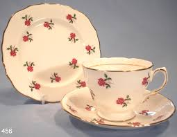 Vintage China Patterns by Colclough Roses Vintage Bone China Trio Pattern 7433 U2013 Sold