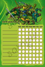 10 images turtles printable reward chart ninja turtle