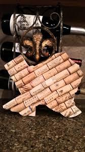 texas wine cork personalized monogram art board trivet