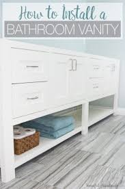 How To Install A Bathroom Vanity Remodel Update How To Install A Bathroom Vanity A Houseful Of