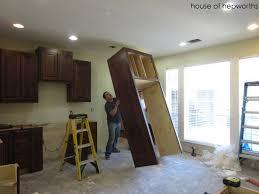 kitchen cabinets around fridge justsingit com