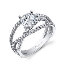 split band engagement rings criss cross split shank engagement ring sylvie collectionalexis