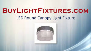 Gas Station Canopy Light Bulbs by Led Round Canopy Light Fixture Only 40 Watts Youtube