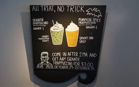 this is the franken frappuccino starbucks u0027 halloween drink