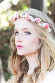 hair wreath wedding flower bridal hair accessory pink roses hair wreath silk