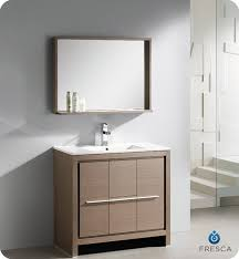 designer bathroom vanity fresca allier 36 modern bathroom vanity grey oak finish