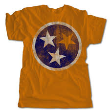 Flag T Shirt Tennessee Flag T Shirt Retro Volunteers Tee One 10 Threads