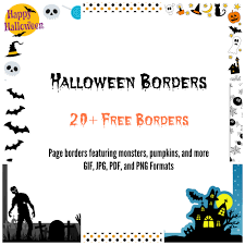 dozens of free halloween themed page borders download each border