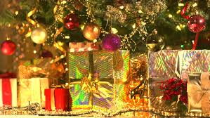 decorated christmas tree with gifts christmas and new year