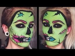 Pop Art Halloween Costume Ideas Pop Art Zombie Makeup Tutorial פורים Zombie Makeup