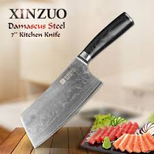 xinzuo damascus kitchen knife 7 inch chef knife very sharp chinese