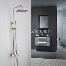 New Shower Faucet Wholesale And Retail Promotion New Modern Square Brushed Nickel
