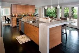 birch kitchen island birch cabinets concrete and caesarstone island contemporary