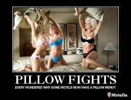 Pillow Fight Meme - motivator motel motivational motel posters pillow fights