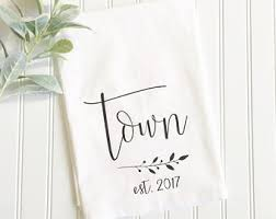 wedding gift towels personalized tea towel custom name tea towel wedding gift