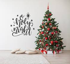 Christmas Wall Pictures by Christmas Wall Decor Oh Holy Night Wall Decal Christmas Decor