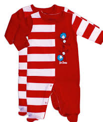 dr seuss thing 1 and thing 2 footed sleepers footed seuss sleepers
