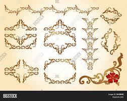 elements ornaments floral frame vector photo bigstock