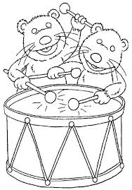 bear inthe big blue house friend pip and pop playing drum